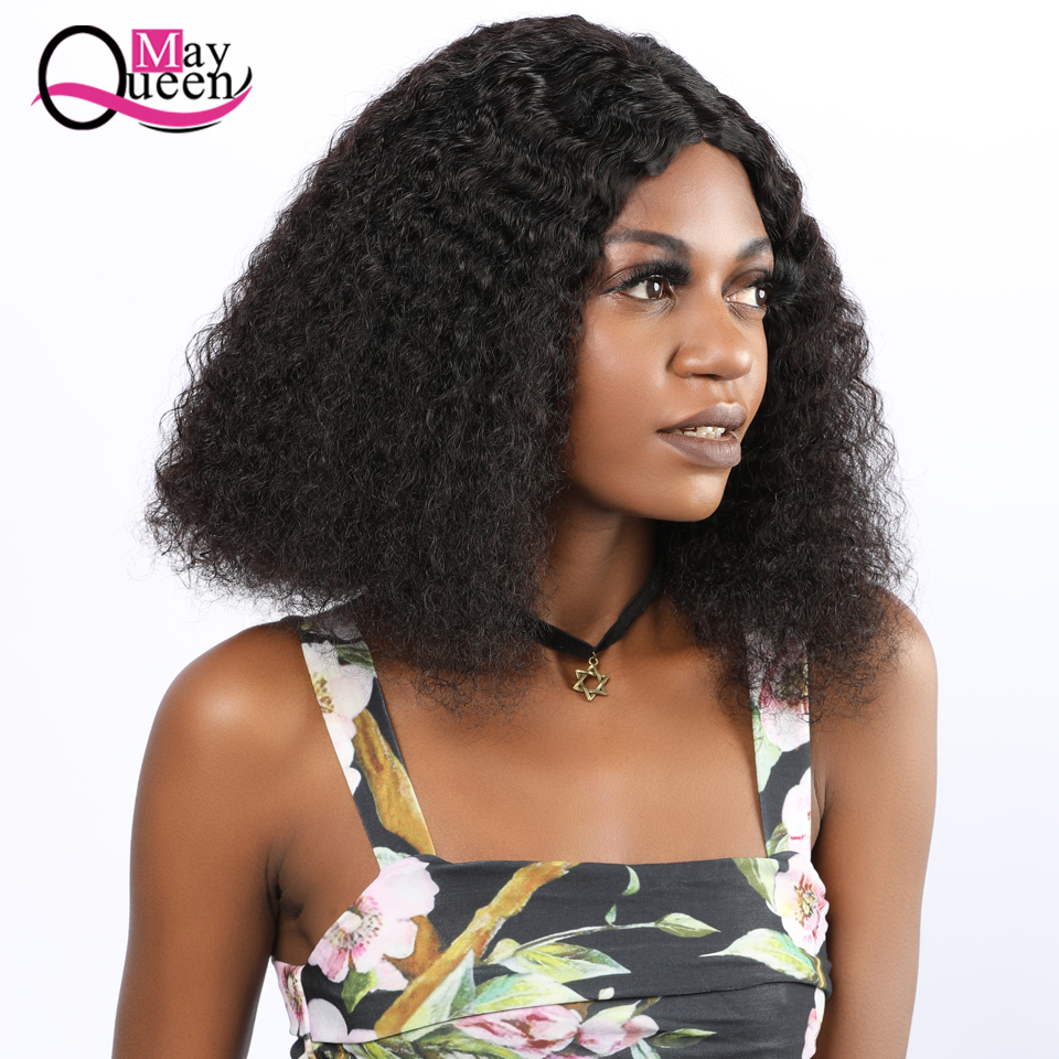 13X4 Glueless Curly Lace Front Human Hair Wigs 150% Density Middle Part Malaysia Remy Hair for Women Pre Plucked May Queen