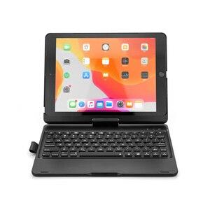 Image 3 - 新 Ipad 用 7 10.2 2019 7 色 Led バックライト 360 度スイベル回転スマートクラムシェルワイヤレス Bluetooth キーボードケースカバー
