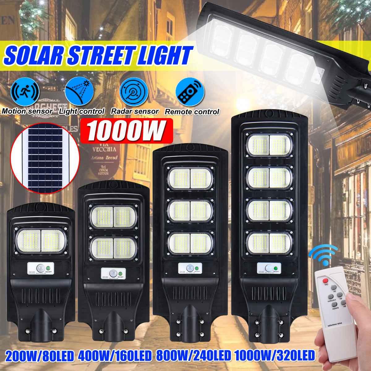 Polycrystalline Solar Wall Light Infrared Motion Sensor Led Street Light 200/300/400/800W Outdoor Lighting Garden Lamp Led Light