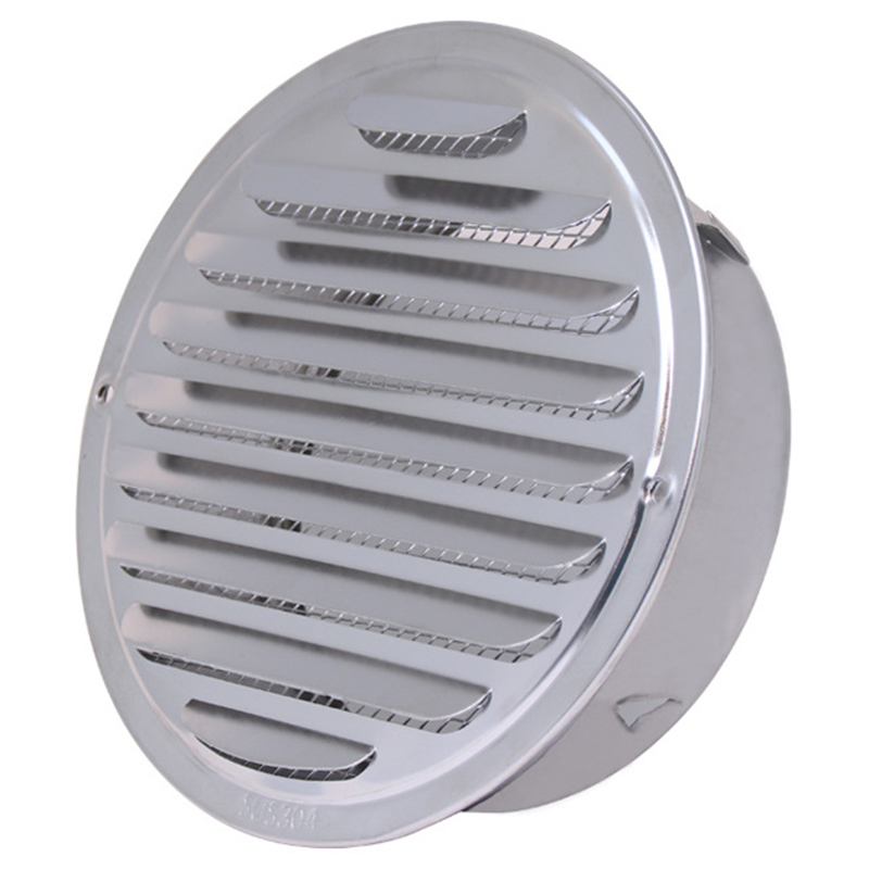 200mm Home Stainless Circle Air Vent Grille Ducting Ventilation Cover Stainless Steel Louver Air Vent|Range Hood Parts| |  - title=