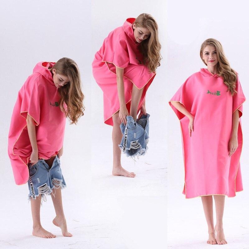 Superfine Fibre Huanyi Bathrobe OEM Quick-Dry Adult Beach Swimming Towel Cloak Sample Processing