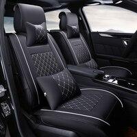 Роскошные кожаные чехлы для автомобильных сидений  чехлы для Volkswagen vw passat b5 6 polo golf 4 tiguan jetta t5  автомобильные аксессуары