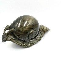 1pc Engrave Natural Gemstone Quartz Hand Craved snail Crystal Crafts