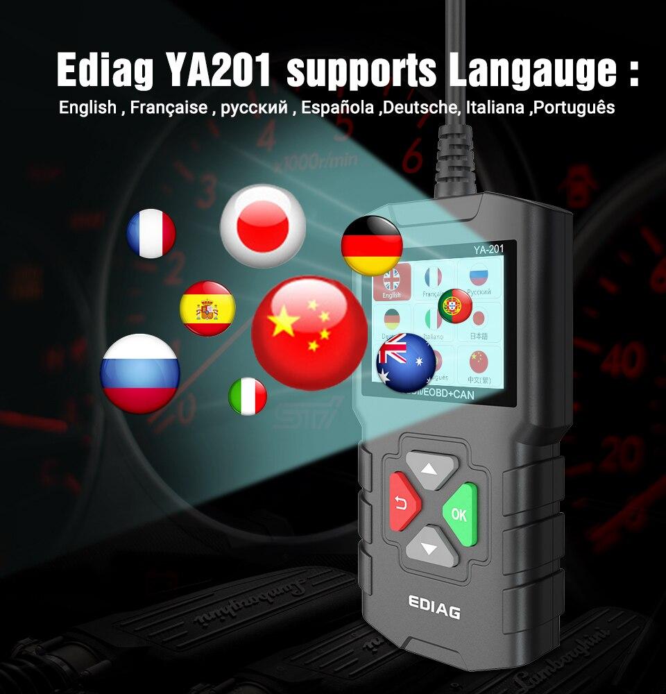 YA-201 atualizar com usb aprimorado obdii scanner