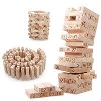 51 шт. большой размер jinga насосные строительные блоки без краски резьба деревянные кирпичи укладка игры дети башня Взаимодействие игрушки
