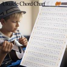 Yfashion Ukulele Chord Chart Wall Sticker Poster Ukelele Music Educational Guitar Chord Chart For Beginner 30x40cm/40x60cm(China)