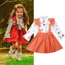 Emmamaby niño pequeño bebé niña volante camiseta Top falda Vestido 2 piezas conjunto de ropa