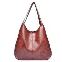 Bolsa de ombro de couro do plutônio macio feminino de design de luxo bolsa feminina 2020 bolsa de mão retro