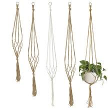 Handmade Macrame Plant Hanger Indoor Hanging Planter Basket with Wood Bead Decorative Macrame Pot Holder for Home Balcony Decor