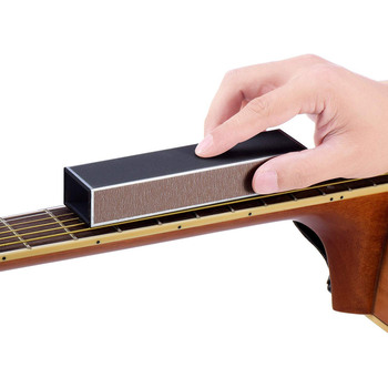 yibuy 14 8x2 4x3 7cm black aluminum alloy guitar fret leveling beam guitar bass lever luthier tool pack of 10 Guitar Bass Neck Sanding Tool Guitar Sandpaper Fret Leveler Leveling Aluminum Alloy Beam Luthier Tools Guitar Parts