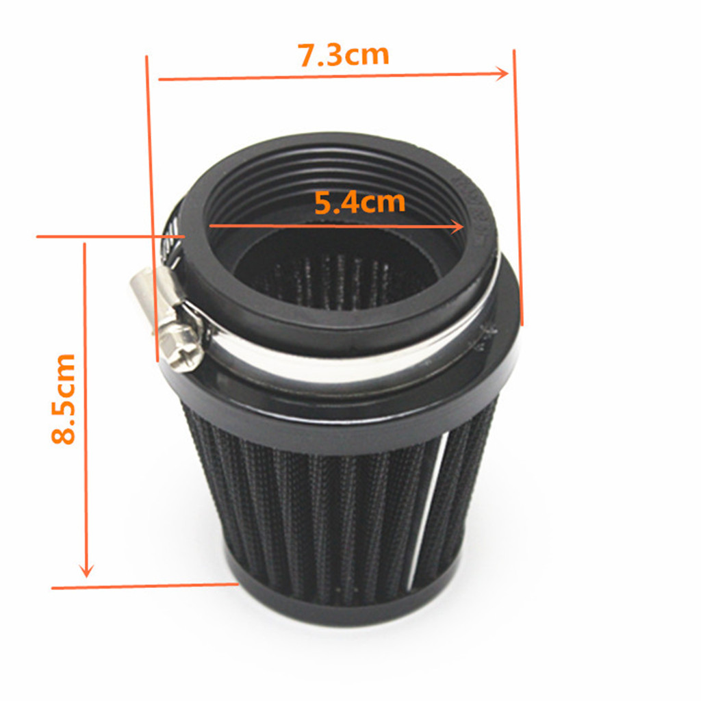 2pcs <font><b>54mm</b></font> <font><b>Air</b></font> <font><b>Filter</b></font> Pod Cleaner Universal for Bike Dirt ATV Quad Motorcycle Scooter, Black image