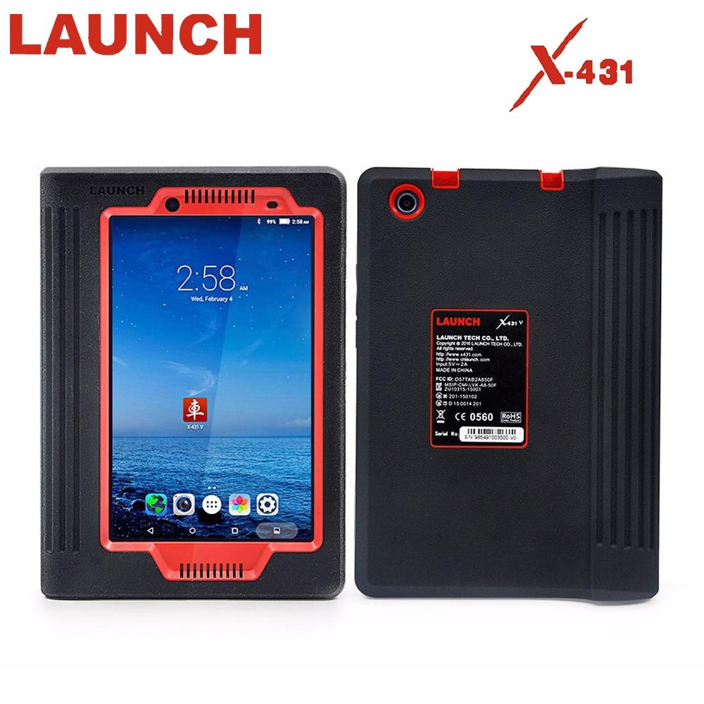Lancement X431 V 8 pouces tablette Wifi et Bluetooth système complet outil de Diagnostic deux ans mise à jour gratuite Scanner de voiture en ligne X431 V OBD 2