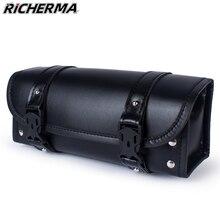 PU Leather Motorcycle Bag For Vespa Cafe Racer Waterproof Tool Bag Steampunk Retro Bike Suitcase Motorbike Biker Backpack