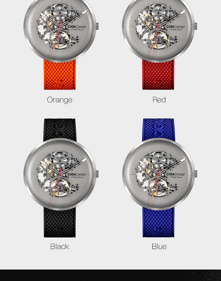H7d95cac185b343818356794a3568a998N CIGA DSIGN MY Series Titanium Dial Watch Automatic Mechanical