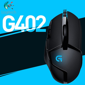 Original Logitech G402 Hyperion Fury gaming mouse Optical 4000DPI High Speed for PC Laptop Windows 10/8/7 Support Official Test