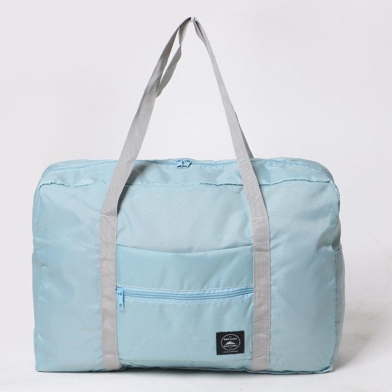 Новинка, нейлоновая складная дорожная сумка унисекс, Большая вместительная сумка для багажа, женские водонепроницаемые сумки, мужские дорожные сумки - Цвет: Blue