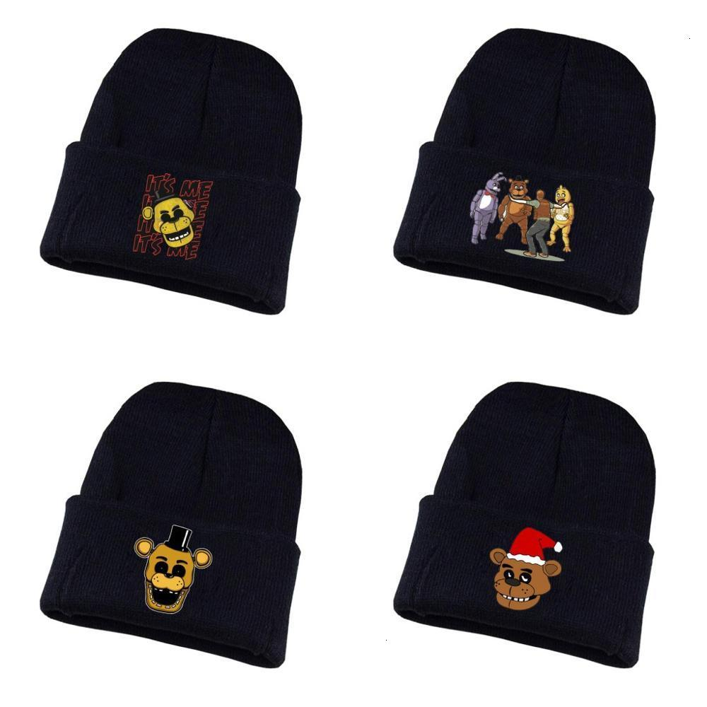 Kids Hats Hedging Five Nights At Freddy Winter Warm Classic Knitted Cap Soft Beanies