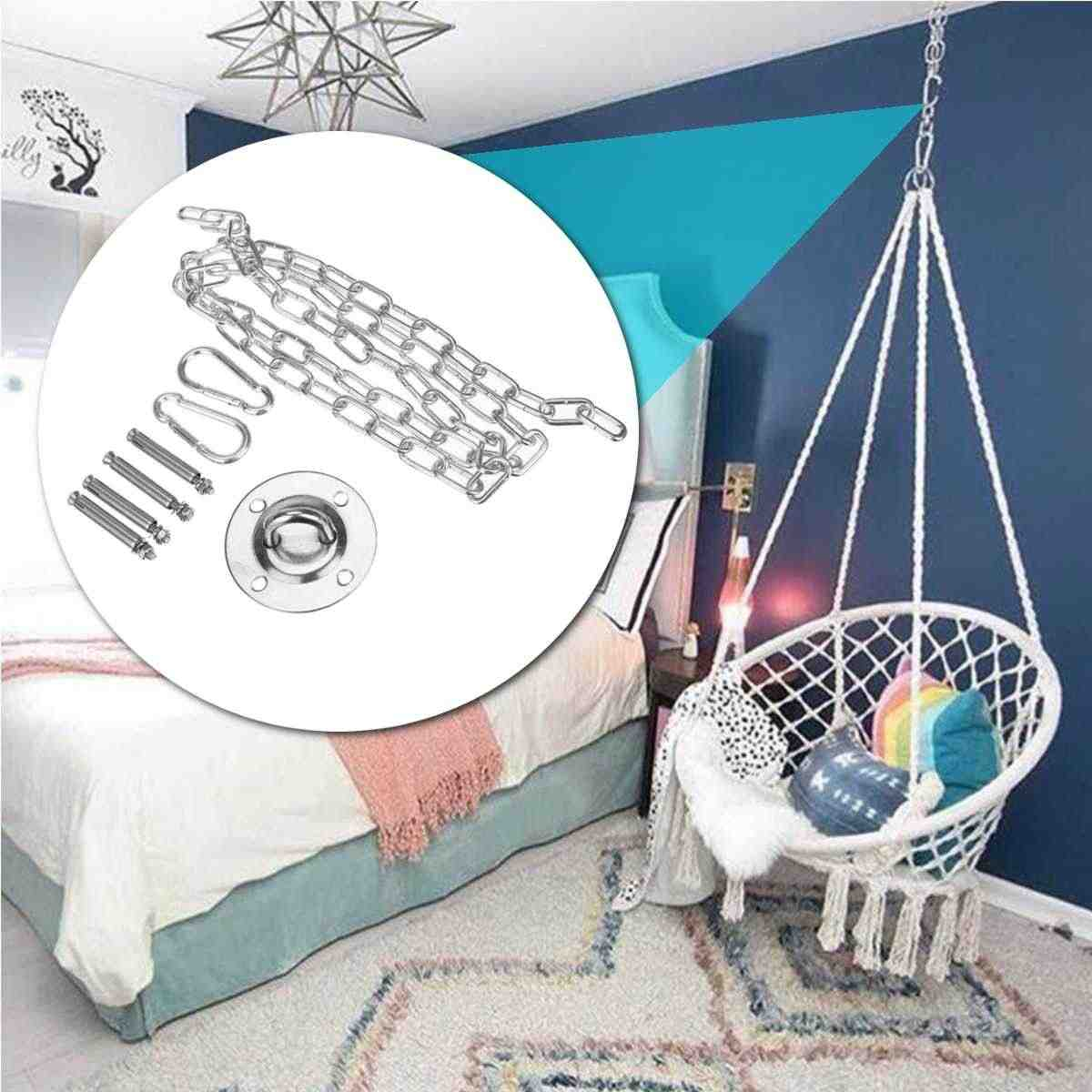 Hammock Mount Swing Hanging Trapeze Hanger Stainless Steel Base Ceiling Hooks Suspension Yoga Hammock Hanging Chair Accessories Aliexpress
