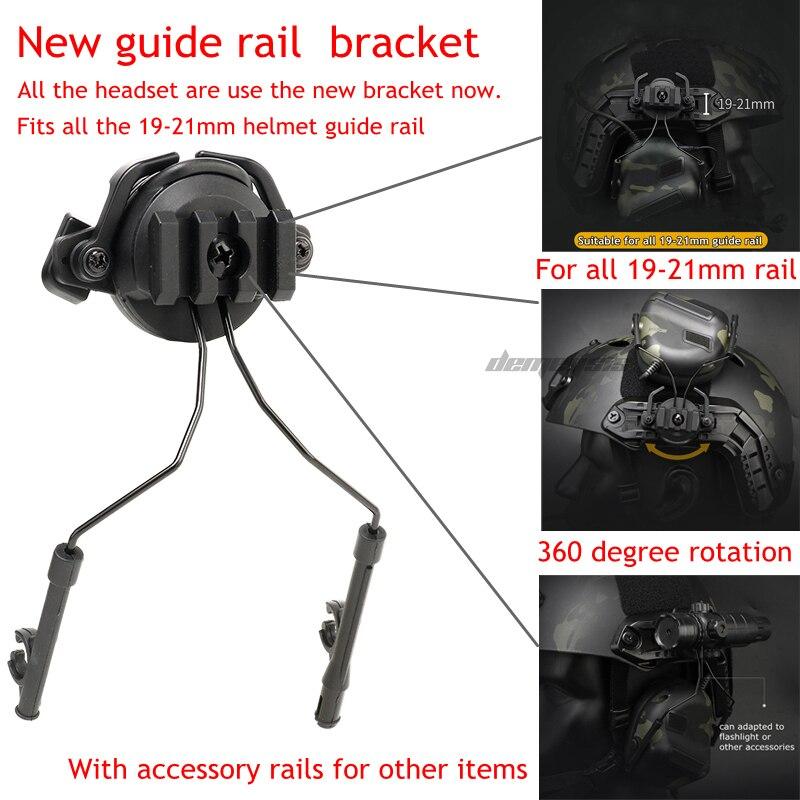 Тактическая гарнитура для шлема с быстрым адаптером для шлема, военная гарнитура для страйкбола и фотосъемки на открытом воздухе-4