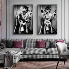 Женские сидения на унитаз Винтаж холст художественные плакаты