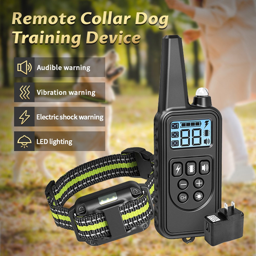 800M <font><b>Electric</b></font> <font><b>Remote</b></font> <font><b>Dog</b></font> <font><b>Training</b></font> <font><b>Collar</b></font> With LCD Display Pet <font><b>Remote</b></font> Control Waterproof Rechargeable <font><b>Collars</b></font> For Shock Vibration image