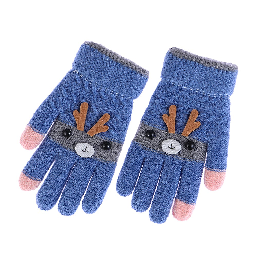 7 Pairs Toddler Unisex Kids Gloves Stretch Full Finger Mittens Winter Warm Knitted Gloves