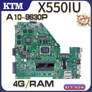 XV50I for ASUS X550I X550IU X550IK VX50IU VX50IK laptop motherboard mainboard 100% test OK A10-9630P cpu 4G/RAM k541u for asus x541uv x541uvk a541u x541uj f541u x541u r541u laptop motherboard mainboard 100