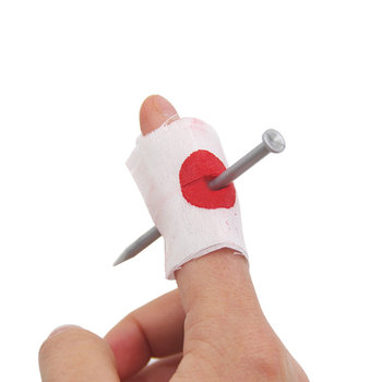 Halloween Creative Funny Props Finger Wear Nail Telling Stories Halloween Action Figure Fake Blood Novelty Spoof Prank Joke Toy image
