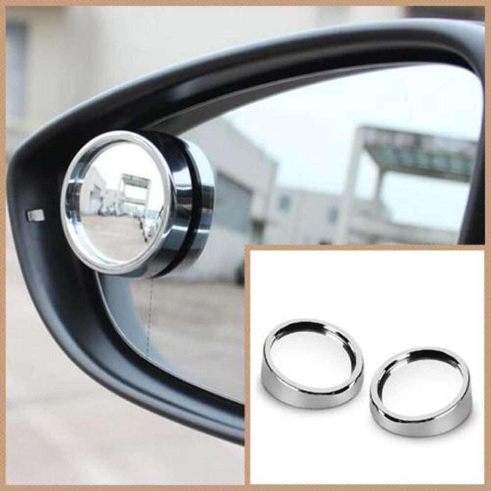 2pcs 360 degree universal blind spot mirror car hot sale frameless ultra-thin wide-angle circular convex rear view mirror