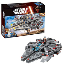 legoinglys 260Pcs Power Awakens Star Set Wars Series mini Millenniums Falcones Model Building Blocks bricks Toys For kids Gift lepin 05038 3346pcs star force awakens sandcrawler wars model building kit blocks bricks diy toy for kids gift compatible 75059 page 2