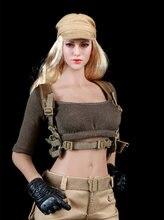 1/6 масштаб fire girl fg010 женский боевой костюм gunner тактическая