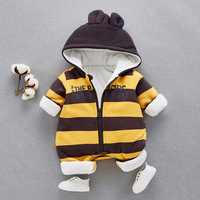 High Quality Baby Rompers Winter Children Thick Cotton Warm Clothes Jumpsuit Children Outerwear Baby Wear Newborn Winter Clothes