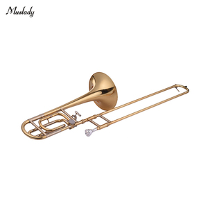 Image 2 - Muslady Intermediate Bb Flat Tenor Slide Trombone with F Attachment Including Mouthpiece Carry Case Gloves Cleaning Cloth