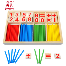 Baby Wooden Montessori Educational Material Toy Counting Sticks Kids Early Learning Mathematical Wooden Box baby toys montessori все цены