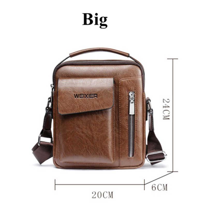 حقيبة كتف للرجال غير رسمية حقائب كروس كلاسيكية عالية الجودة للرجال حقيبة يد من الجلد للرجال حقائب ساعي البريد WBS510-2