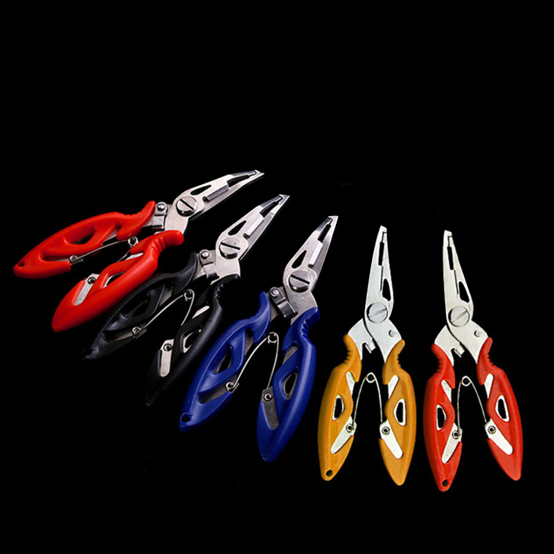 Fishing Plier Scissor Braid Line Lure Cutter Hook Remover Tackle Tool Cutting Fish Use Tongs Scissors Fishing Pliers 4 Colors #2(China)