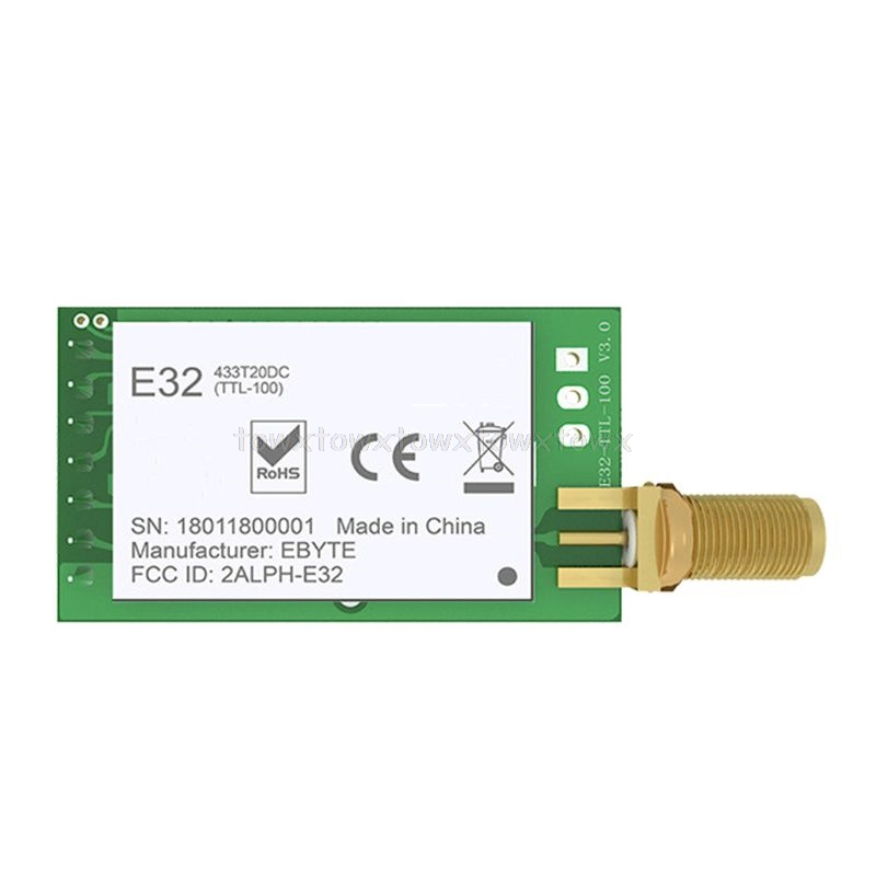 LORA SX1278 433 мгц радиочастотный модуль передатчик приемник E32-433T30D UART длинный диапазон 433 MHz 1W Беспроводной Радиотрансивер O11 19; Прямая поставка