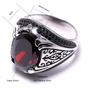 Image 5 - Guaranteed 925 Silver Rings Luxury Turkish Jewellery For Men And Women With Zircon Stone Retro Vintage Rings In Fijne Sieraden