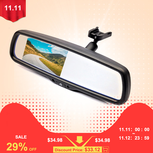 Image 2 - GreenYi 4.3 inch TFT LCD Car Rear View Mirror Monitor with Special Original Bracket 2 Video Input for Parking Assitance