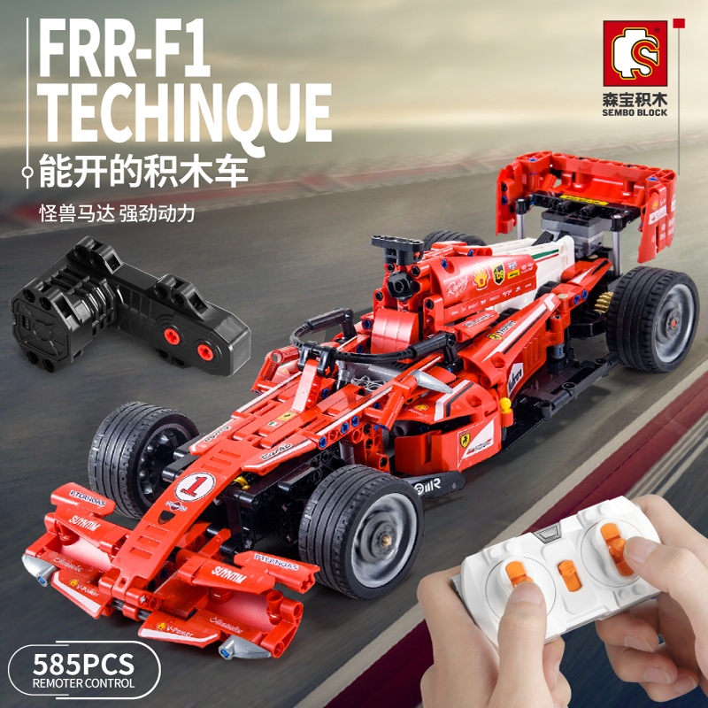 Lepined Technic Series Remote Control Formula one F1 Racing Car Motor Bricks Sembo Model Kit Building Blocks Toys For Children image