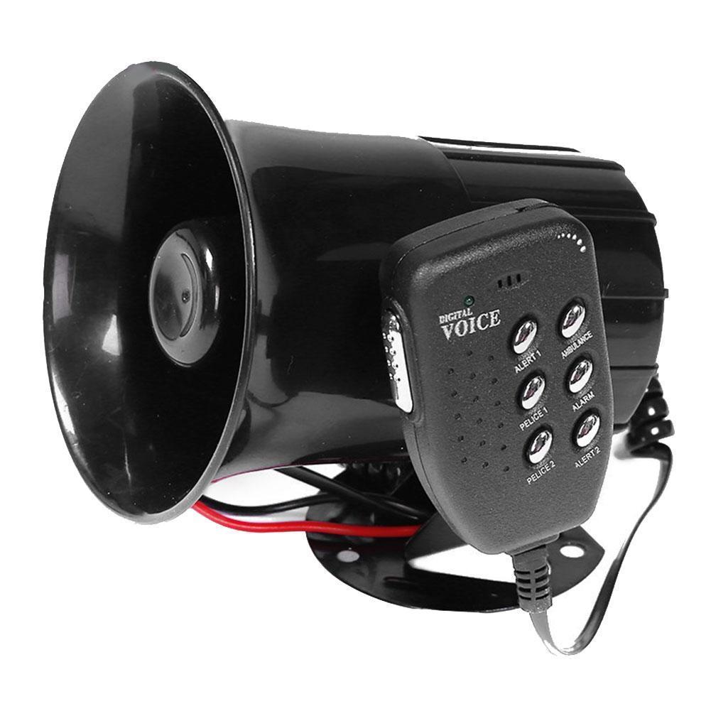 Автомобильная сигнализация направленного Предупреждение, звуковая сирена, громкоговоритель PA, микрофон, Мегафон, автомобильная система 6, ...