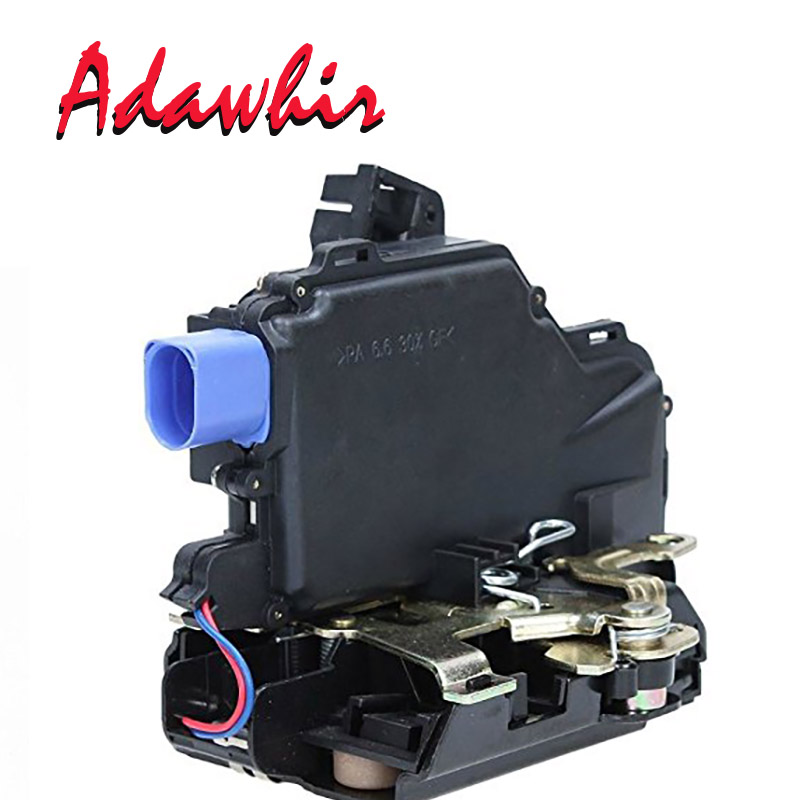 REAR LEFT DOOR LOCK ACTUATOR CENTRAL MECHANISM 3B4839015AG FOR <font><b>VW</b></font> POLO 9N <font><b>VW</b></font> <font><b>T5</b></font> TRANSPORTER CARAVELLE <font><b>MULTIVAN</b></font> image