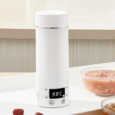 Miini portátil chaleira elétrica de água aquecimento térmico caldeira viagem aço inoxidável bule chá café leite copo fervente 110 v 220 v