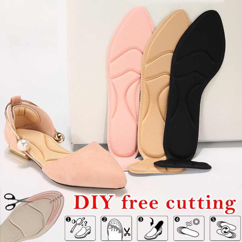 1 par plantilla para mujer almohadilla transpirable antideslizante insertos de tacón alto almohadilla de inserción pie talón Protector zapatos Accesorios