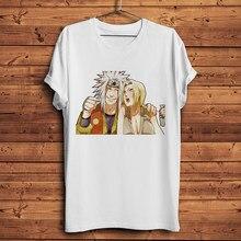 Camiseta de manga corta para hombre y mujer, camisa divertida de anime de Gama Sennin Jiraiya y sunade, informal, Blanco nuevo, unisex, ropa de calle de manga japonesa