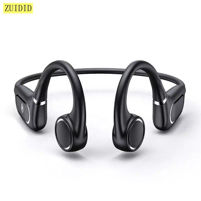 Беспроводные Bluetooth-наушники H12 с костной проводимостью, стереонаушники, спортивные водонепроницаемые наушники, гарнитура с шумоподавление...