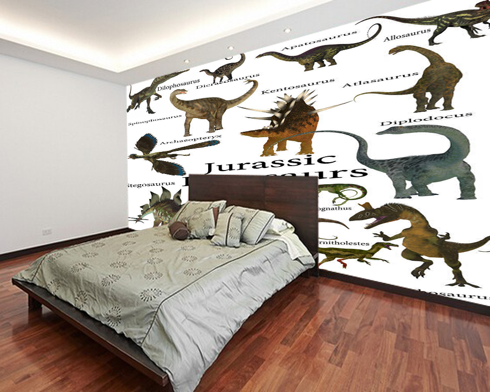 Children's Wallpaper,Dinosaur Collection Photo Murals For Kids Rooms Study Living Room Background PVC