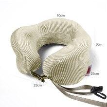 1 шт. u-образная кристальная супер тканевая Подушка с эффектом памяти, мягкая подушка для автомобиля, полёта, офиса, путешествий, предотвращающая боль в шейки матки, подушка для головы