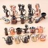 Metal Keychains, New Stylish Handmade 3D Keyrings, Various DIY Appliances, Alloy Gifts, Car Pendants,Men's Key Chain Decorations