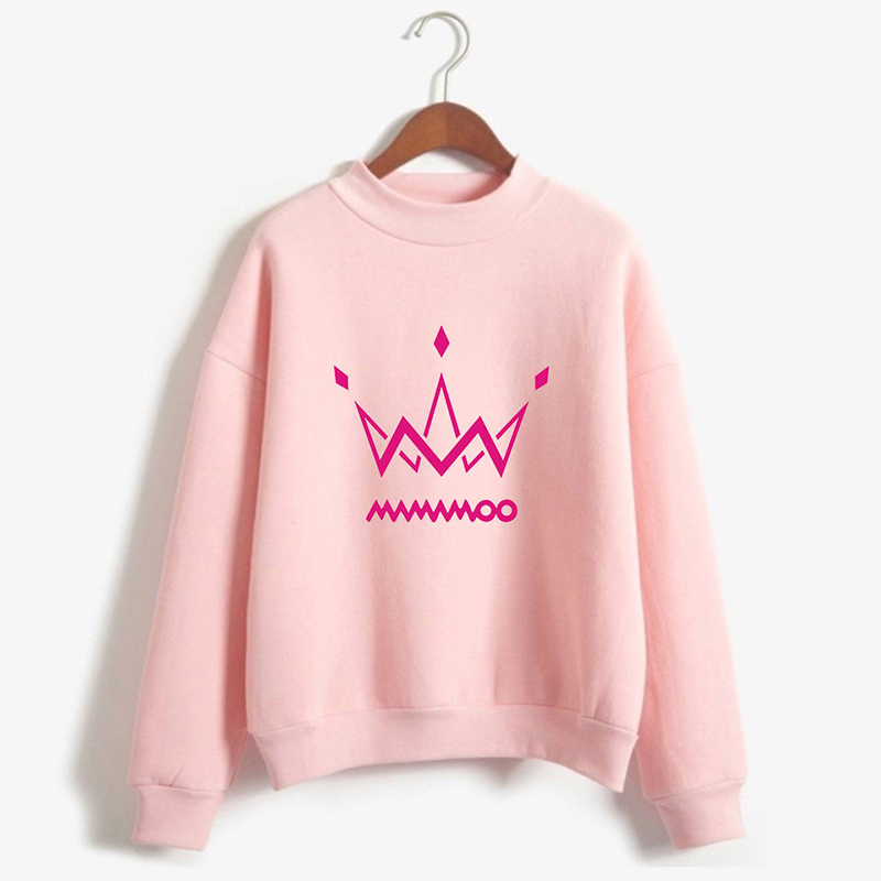 2019 New KPOP MAMAMOO Urban Personality Trend Men And Women Models High Collar Sweater Cotton Teen Dropshipping